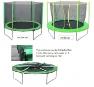 Trampoline with Foldable Safety Net